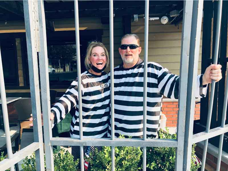 Jen and Daryn Oxe, Husband & Wife, Jailbirds